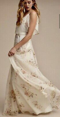 a9a614bb238 New Anthropologie BHLDN Jenny Yoo PRIM Ivory Multicolor Prom Gown Sz 8 MSRP   290