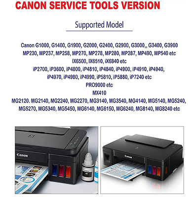 Canon Service Tool v4905, G2100 3100 G4100 G4100,Unlimited 1PC key, Emailed