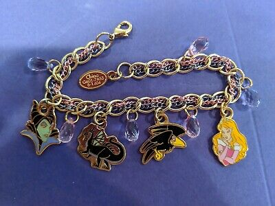 DISNEY SLEEPING BEAUTY Princess Aurora Charm Bracelet - $19 99