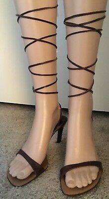 79059dede310 NEW BCBG MAXAZRIA Gladiator Sandals boot cage hills camel 7 shoes ...