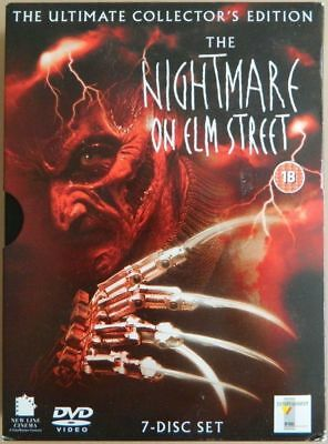 The Nightmare On Elm Street 1-7 (Seven Disc Collector's Edition) DVD NO BOOKLET