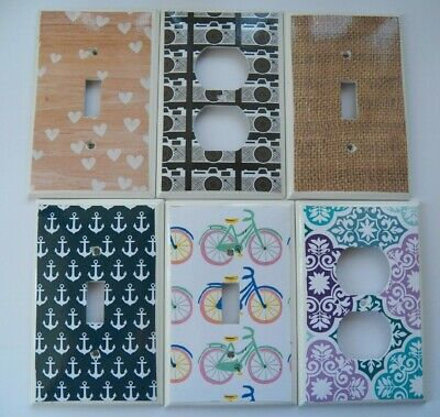 Switchplate Covers - LIFE & HOME Choose Your Design LIGHT SWITCH COVER Handmade