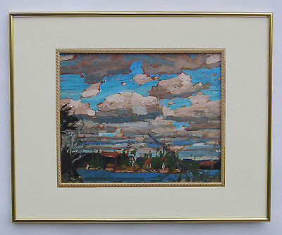 """Tom Thomson, Group of Seven """"Ragged Lake"""" in Gold Frame"""