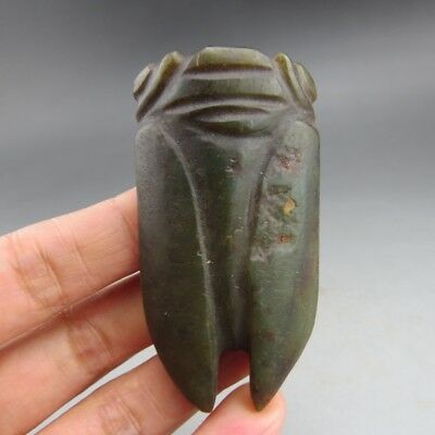 Chinese,jade,noble collection,Hongshan culture,jade, cicada,pendant  Q68