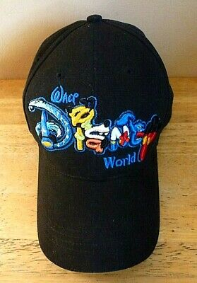 604bac3a86049 Walt Disney World Hat Characters Spell Out Adult Snapback Baseball Cap  Mickey