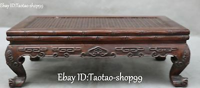 Distinctive Rosewood Wood Handwork Carving Ancient Drink Tea Table Desk Statue