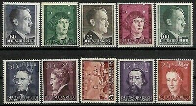 *L@@K* 10 German General Government Un-Used Stamps.1940..(1).