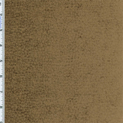 Copper Brown Komodo Reptile Faux Velvet  Decorating Fabric, Fabric By The Yard