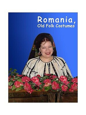 BOOK Romania Old Romanian Folk Costumes 48 color plates showing 100 costumes
