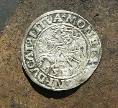 Ancient Medieval silver European coin 1551 year