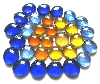 31 x Shades of Vincent van Gogh The Starry Night Glass Mosaic Pebble Gem Stones