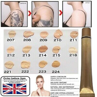 Tattoo Hiding Concealer Make up Foundation Cover Professional Base Thick UK POST