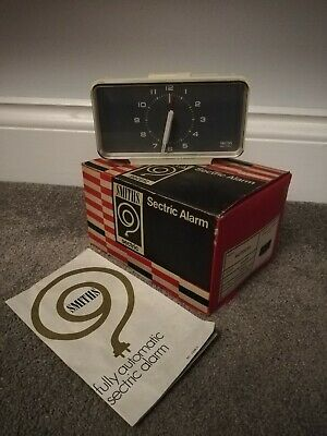 RARE Vintage Retro Smiths Sectric Autocal Alarm Clock. NOS BOXED INSTRUCTIONS