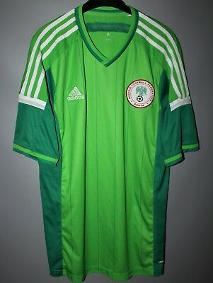 official photos 6b942 a26ae NIGERIA NATIONAL TEAM 2014 2015 Home Football Shirt Jersey Adidas Green