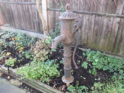 Large Vintage Cast Iron Hand Water Pump - Garden Feature. Approx: 92cms Tall+