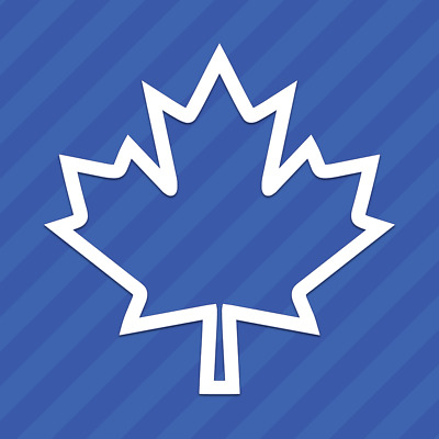 Canadian Maple Leaf Outline Canada Vinyl Decal Sticker