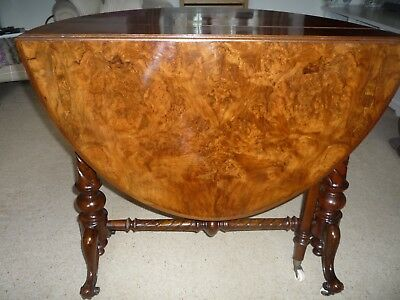 Oval Victorian Walnut sutherland OccasionalTable, c1865
