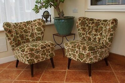 Mid Century Vintage East German Bartholomew Cocktail Chairs C1955 Apr18-18