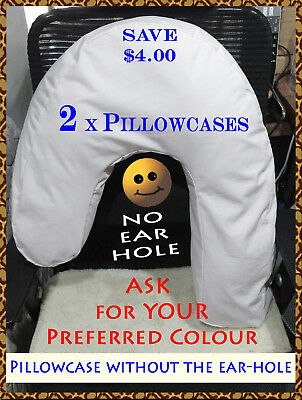 2  ASK-YourColour NO EAR-HOLE  Pillowcases for Side Sleeper Pro Sleeping Pillow