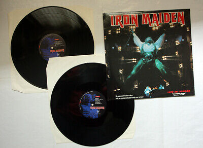 IRON MAIDEN Live In London VERY RARE DOUBLE LIVE LP
