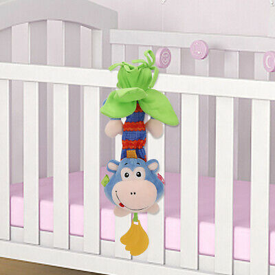 Newborn Baby Bed Stroller Rattle Soft Plush Mobile Monkey Pull Kids Crib Doll