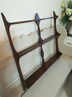 Solid Oak Dresser Rack Shelf Unit