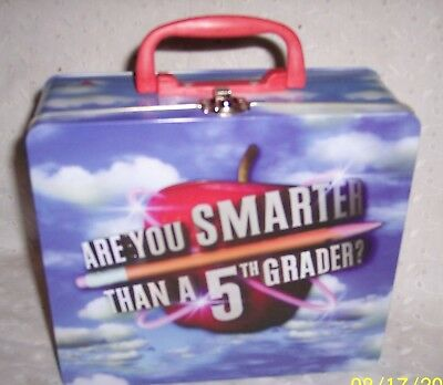 Are You Smarter Than A 5Th. Grader Tin Metal Lunch Box -2007 By Cardinal