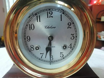 Chelsea (Boston) Shipstrike Clock Excellent Condition Made In Usa No Key