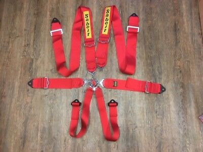 Sabelt 6Pt Harness Renault R26R Red Ece Approved