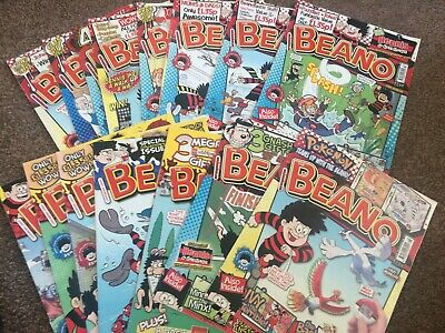 The Beano comic book bundle, 15 issues from 2010, VGC, fast free post!