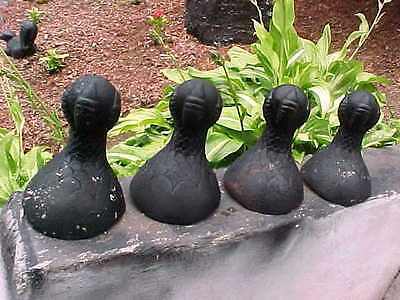 Antique Vintage Nice Set Of 4 Very Clean Cast Iron Eagle Claw & Ball Feet