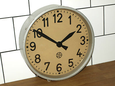 battery operated CHRONONTECHNA wall clock - metal - industrial, vintage, loft