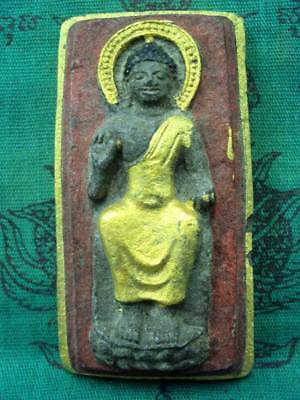 Phra Dvaravati Buddha Figure Talisman Magic Healing Lucky Thai Buddhist Amulet