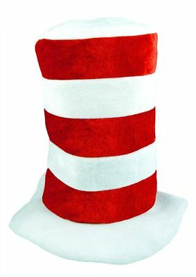 Childs Red and White Stripe Tall Giant Hat Kids Cat Hat Book Week Party Dress