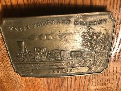 Vintage Wells Fargo And Company Railroad Belt Buckle Nevada 1976