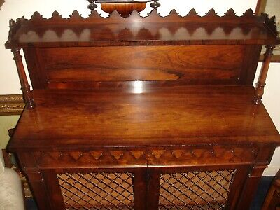 CHIFFONIER/ CABINET/ SIDEBOARD/ ROSEWOOD BRASS GRILLED circa 1820-1830