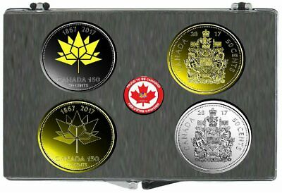 2017 Canada 150 and Classic 50 Cents 4 Coin Set