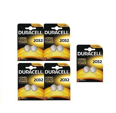 Duracell 2032 3V Lithium Coin Cell Batteries CR2032 DL2032 Battery - New