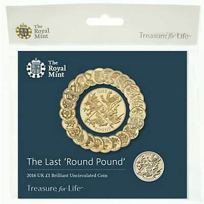 2016 The Last Round £1 Coin BU Sealed in Royal Mint Pack - UK One Pound Coin