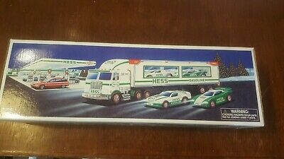 Unopened New 1997 Hess toy Truck & RACERS Brand New factory perfect