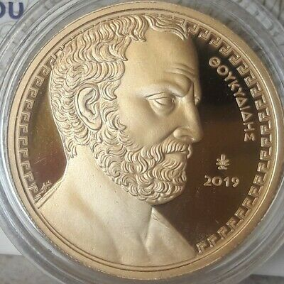 SUPER RARE new 🅰 GOLD ancient GREECE 200 Euro 2019 THUCYDIDES 🅰 PROOF 750 pcs