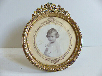 LOVELY ANTIQUE FRENCH LATE 19th CENTURY BRONZE PICTURE PHOTO FRAME 1890's 3 3/4""
