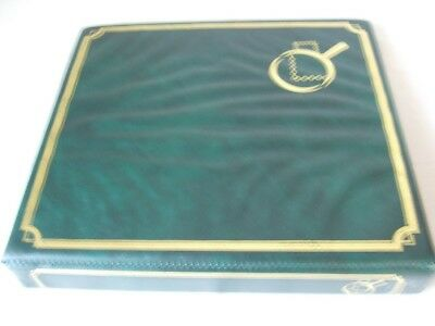 Green Luxury First Day Covers Stamp 4-Ring Album & Leaves