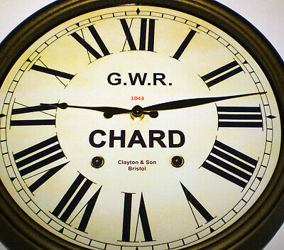 Great Western Railway GWR Victorian Style Clock, Chard Station