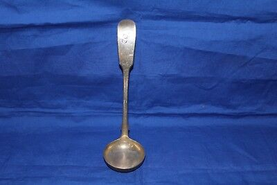 SCOTTISH SILVER FIDDLE PATTERN TODDY LADLE - Edin 1846