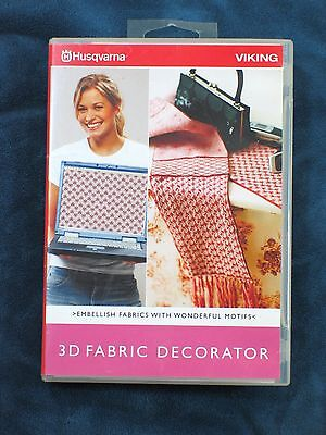 Husqvarna Viking 3D Fabric Decorator Embroidery Software 7.25  920086-026 Sealed