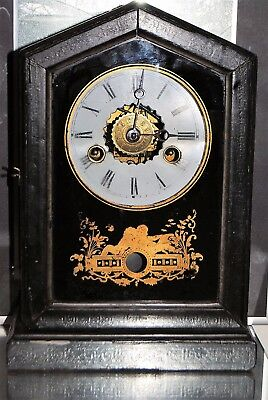 Antique Art Nouveau Pendulum Alarm Junghans Clock 1800s