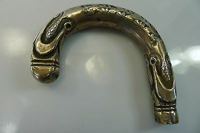 Rare Authentic Antique Solid Silver Walking Stick Handle Austrian Hallmarked