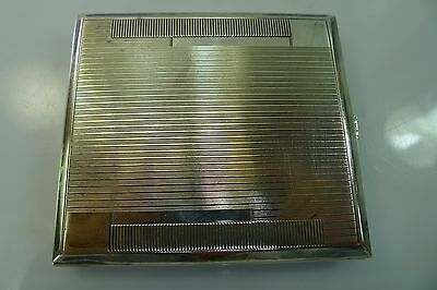 Rare Art Deco Silver Hinged Spring Opening Lid Cigarette Case