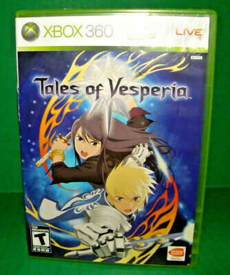 Tales of Vesperia Microsoft Xbox 360, 2008 Complete In Box CIB Super Rpg 4059